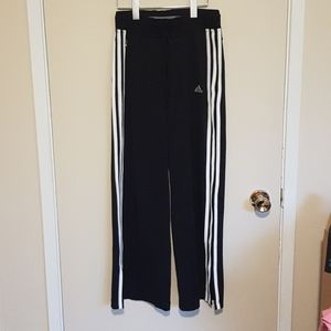 Adidas wide leg 3 stripe clima 365 track pants
